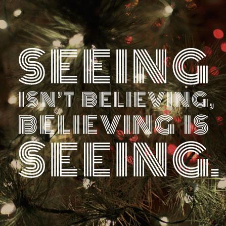 Seeing isn't believing, believing is seeing