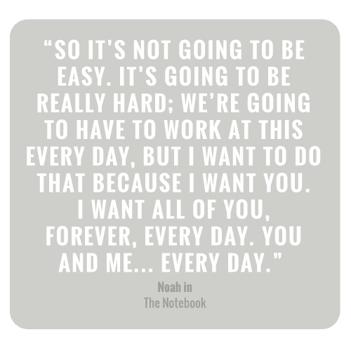 It's not going to be easy. It's going to be really hard; we're going to have to work at this every day