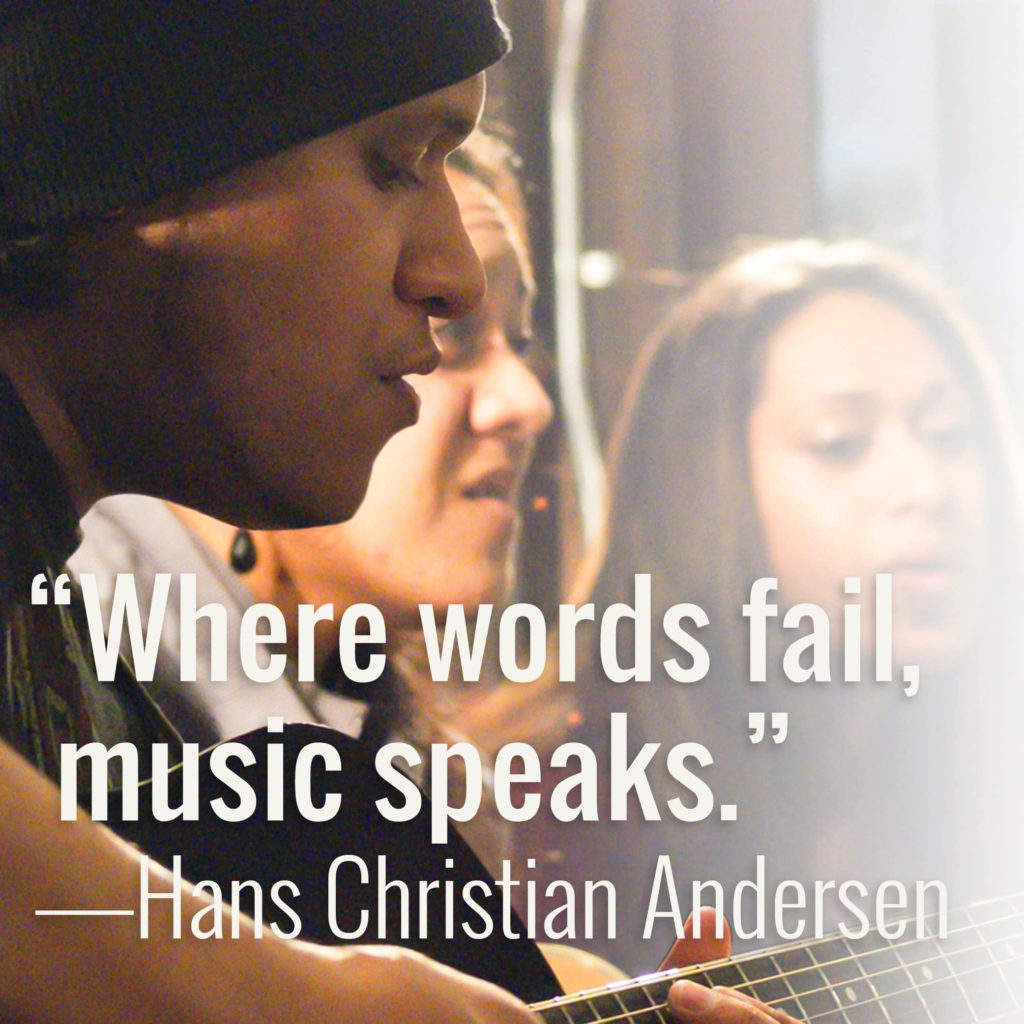 Where words fail music speaks. Hans Christian Andersen